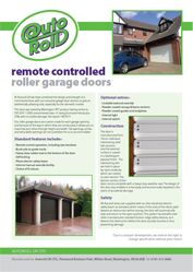 A Plastisol garage door brochure
