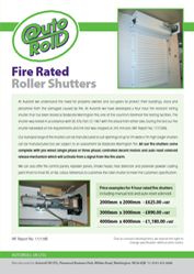 An Authotherm insulated garage door brochure